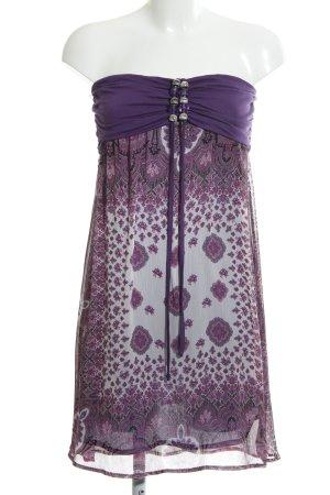 Hallhuber Halter Dress lilac-white flower pattern casual look