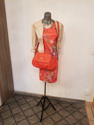 Hallhuber neu  Kleid wunderschönes kurzes Kleid Größe 36 blumig orange hinten mit Reißverschluss