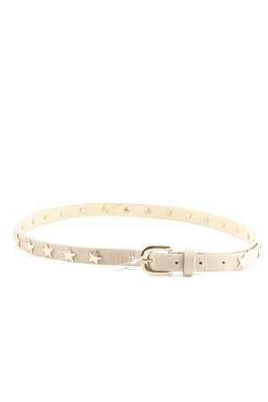 Hallhuber Studded Belt cream-gold-colored casual look