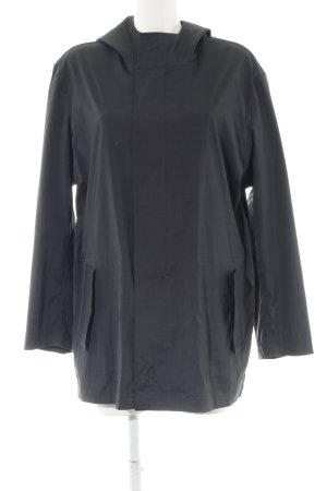 Hallhuber Veste d'extérieur noir style décontracté