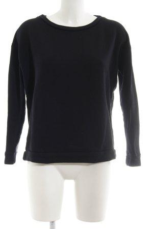 Hallhuber Oversized Pullover schwarz Casual-Look