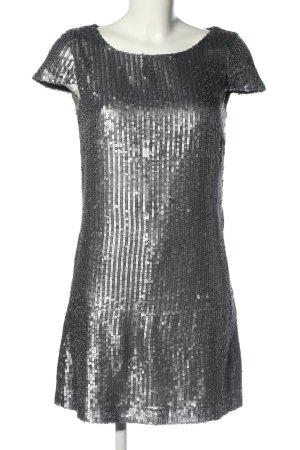 Hallhuber Cekinowa sukienka srebrny Elegancki