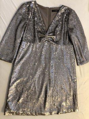 Hallhuber Pailletten Kleid Silber