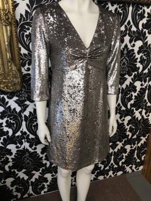 Hallhuber Party Kleid in Gr.38/M in Silber .
