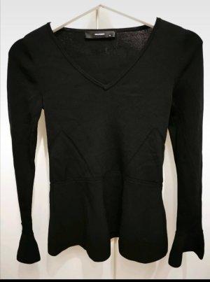 Hallhuber Camicia maglia nero
