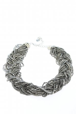 Hallhuber Pearl Necklace silver-colored casual look