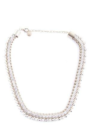 Hallhuber Collier de perles doré élégant