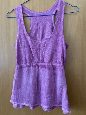 Hallhuber Pink fuchsia Top Seide Baumwolle Gr 34