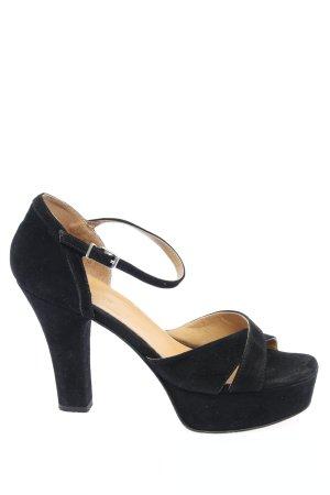 Hallhuber Riemchen-Sandaletten schwarz Casual-Look