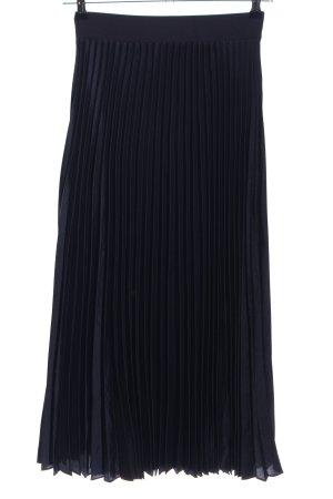 Hallhuber Falda plisada negro look casual
