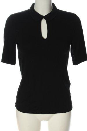 Hallhuber Polo-Shirt schwarz Casual-Look