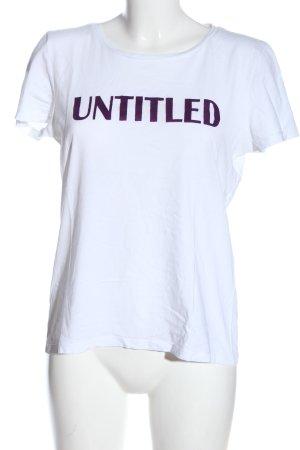 Hallhuber Print-Shirt weiß Schriftzug gedruckt Casual-Look