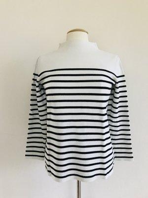 Hallhuber Pullover, Langarmpullover, Rollkragen, Streifen, schwarz weiß, Gr M