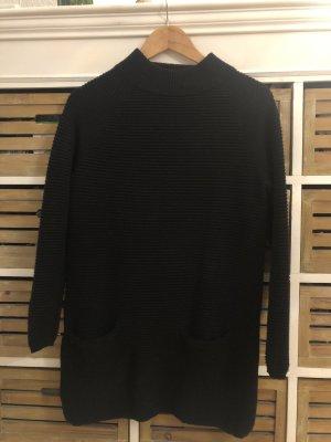 Hallhuber Pullover Pulli Long Lang Kleid schwarz Gr. S 36 / M 38 Kaschmir Wolle