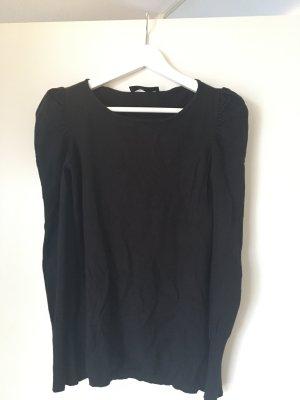 Hallhuber Pullover, schwarz, XS