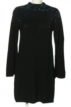 Hallhuber Robe pull noir pailleté