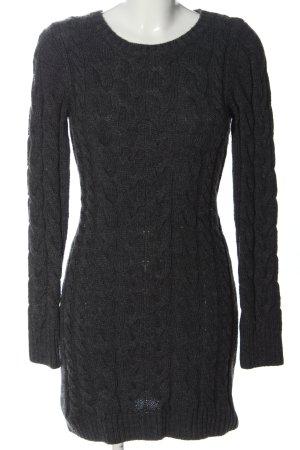 Hallhuber Swetrowa sukienka jasnoszary Warkoczowy wzór W stylu casual