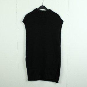 Hallhuber Długi sweter bez rękawów czarny