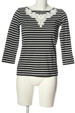 Hallhuber Stripe Shirt black-white striped pattern casual look