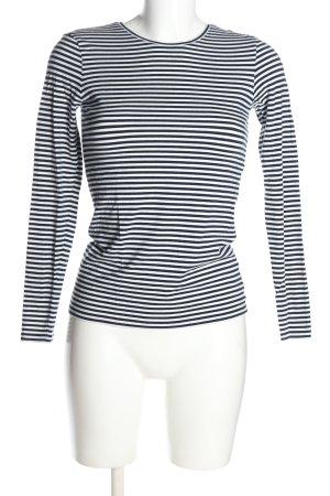 Hallhuber T-shirt rayé noir-blanc motif rayé style décontracté