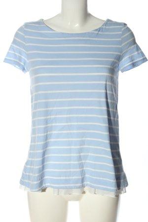 Hallhuber Ringelshirt blau-weiß Allover-Druck Casual-Look