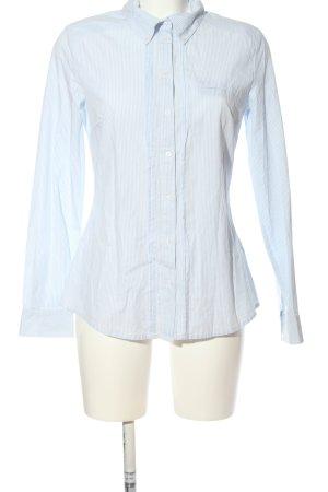 Hallhuber Langarmhemd blau-weiß Streifenmuster Casual-Look