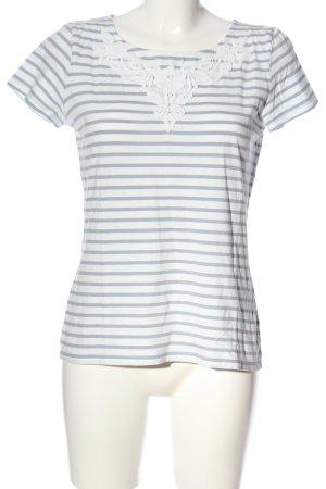Hallhuber Ringelshirt blau-weiß Streifenmuster Casual-Look