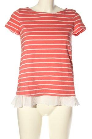 Hallhuber Stripe Shirt pink-white striped pattern casual look
