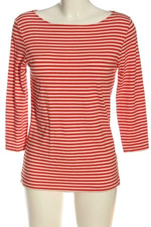 Hallhuber Ringelshirt rot-creme Streifenmuster Casual-Look