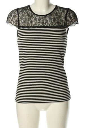 Hallhuber Ringelshirt schwarz-weiß Streifenmuster Casual-Look