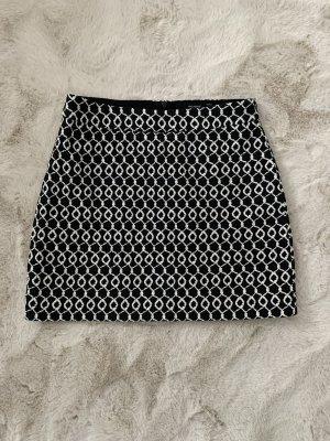 Hallhuber Mini-jupe noir-blanc