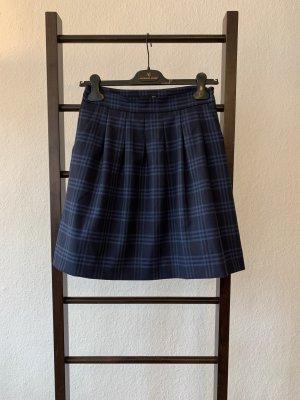 Hallhuber Jupe à plis noir-bleu foncé polyester