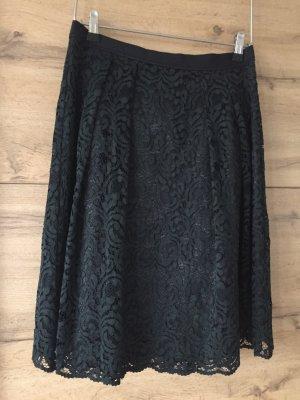 Hallhuber Lace Skirt dark green