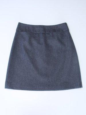 Hallhuber Wollen rok grijs-donkergrijs