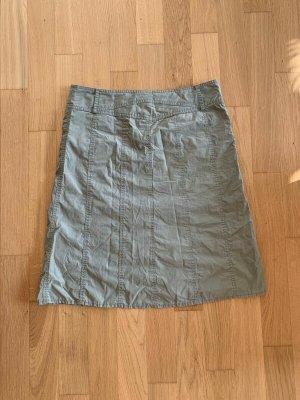 Hallhuber Falda estilo cargo verde grisáceo Algodón