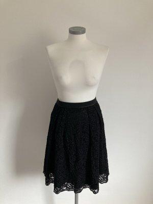 Hallhuber Falda de encaje negro