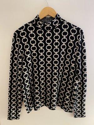 Hallhuber Turtleneck Sweater black-white