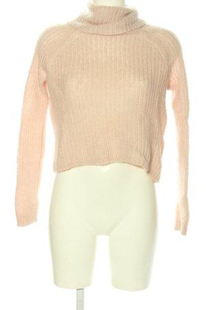 Hallhuber Sweter z golfem różowy W stylu casual