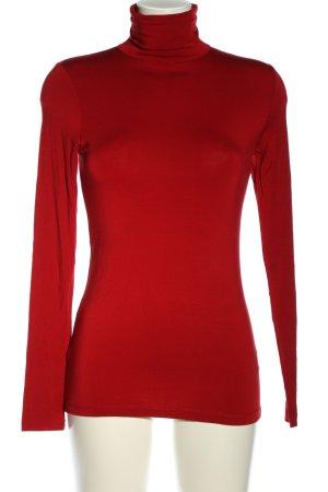Hallhuber Maglia a collo alto rosso stile casual