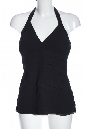 Hallhuber Backless Top black casual look