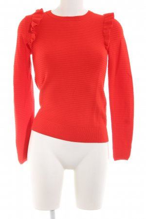 Hallhuber Rundhalspullover rot Casual-Look