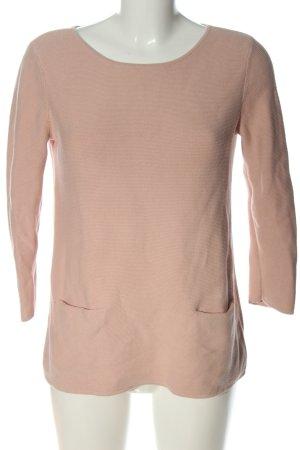 Hallhuber Rundhalspullover pink Casual-Look