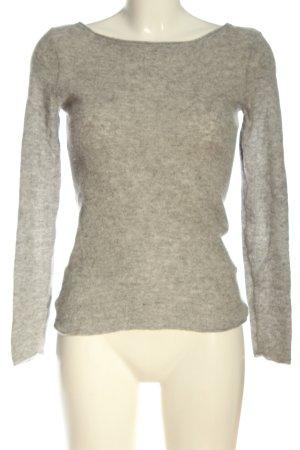 Hallhuber Crewneck Sweater brown-light grey flecked casual look
