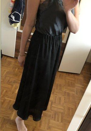 Hallhuber Falda de seda negro