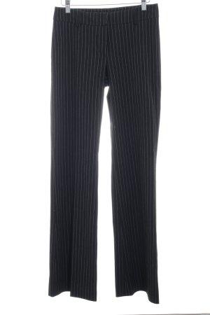 Hallhuber Pantalon pattes d'éléphant noir-blanc style d'affaires