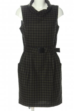 Hallhuber Tubejurk khaki-zwart geruite print casual uitstraling