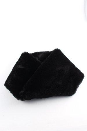 Hallhuber Bufanda tubo negro look casual
