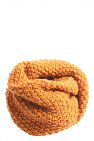 Hallhuber Tube Scarf light orange cable stitch casual look