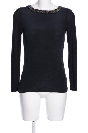 Hallhuber Schlupf-Bluse schwarz Casual-Look