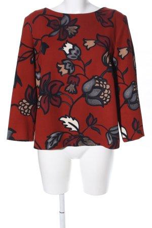 Hallhuber Schlupf-Bluse rot Blumenmuster Business-Look